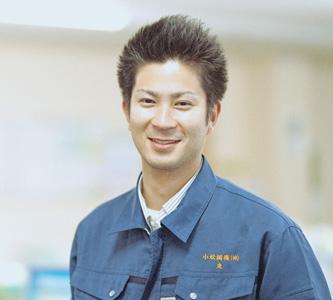 鋼材事業の先輩 東さんの写真